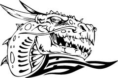 Dragon head vector illustration