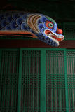 Dragon head. At a Buddhist temple just out of Seoul, South Korea Royalty Free Stock Image