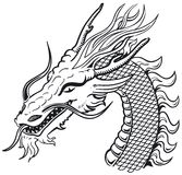 Dragon head b&w Royalty Free Stock Photos
