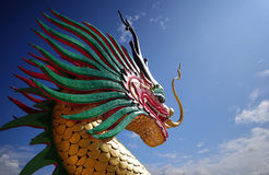 Dragon head. Dragon head and blue sky Royalty Free Stock Photo