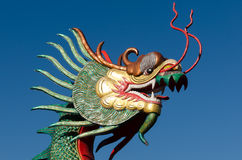 Dragon head with blue sky Royalty Free Stock Image