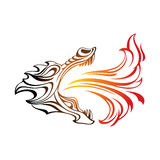 Dragon. Head of a dragon breathing fire Royalty Free Stock Photography