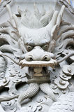 Dragon head carving Royalty Free Stock Image