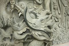 Dragon Head Carving Royalty Free Stock Photography