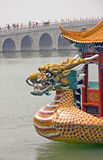 Dragon head on a Chinese boat Stock Photography