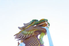 Dragon head. At a Chinese Style city in Thailand Royalty Free Stock Image