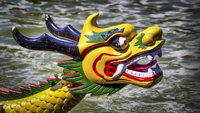 Dragon head. Colored and traditional dragon head from a dragon boat Royalty Free Stock Image
