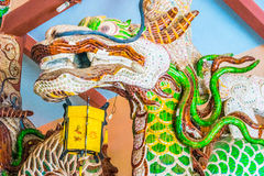 Dragon head decoration at Buddhist temple Royalty Free Stock Photos