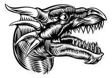 Dragon Head Design Illustration de Vecteur