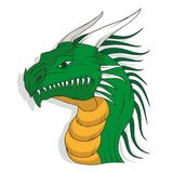 Dragon head. Isolated on a white background Royalty Free Stock Photos