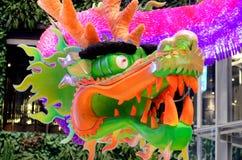 Dragon head hanging decorative. Statue Royalty Free Stock Photo