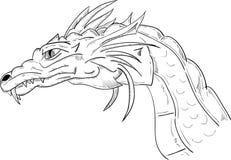 Dragon head royalty free illustration