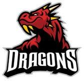 Dragon head mascot. Vector of Dragon head mascot Stock Images