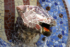 Dragon head in Park Guell, Barcelona Stock Photography