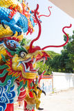 Dragon head sculpture Stock Photography