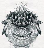 Dragon head sketch royalty free stock photos