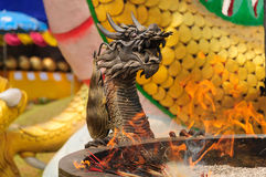 Dragon head. Statue in thailand Royalty Free Stock Photo