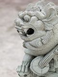 Dragon head stone statue Royalty Free Stock Image