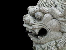 Dragon head stone statue Royalty Free Stock Photo