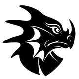 Dragon head symbol Royalty Free Stock Images