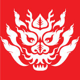 Dragon face tattoo design Royalty Free Stock Photos