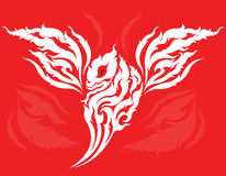 Tribal Dragon tattoo design Royalty Free Stock Images
