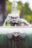 Dragon headed fountain near Rinnoji Temple in Nikko Stock Images