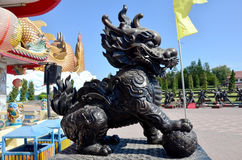 Dragon-headed unicorn called qilin or kylin Statue Royalty Free Stock Photography
