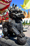 Dragon-headed unicorn called qilin or kylin Statue Royalty Free Stock Images