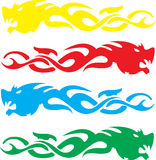 Dragon heads Stock Images