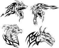 Dragon heads Stock Photography