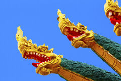 Dragon heads Asia stock photography