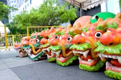 Dragon heads for boat Stock Images