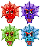 Dragon heads Stock Photos
