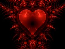 Dragon heart, Valentine's day motive Stock Photo
