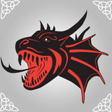 Dragon from Hell Tattoo Royalty Free Stock Images