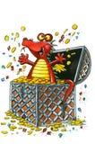 Dragon heureux et riche Photo libre de droits