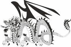 Dragon of the hidden treasure Royalty Free Stock Image