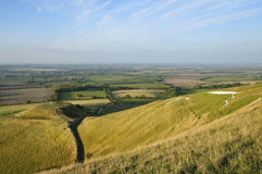 Dragon Hill & White Horse Hill Stock Photos