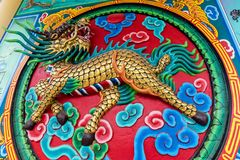 Dragon horse scuplture, Chinese style Stock Images