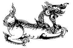 Dragon horse Thailand Royalty Free Stock Images