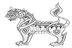 Dragon horse Thailand Stock Image
