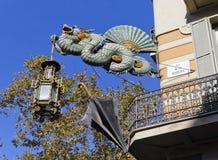 Dragon House of umbrellas Royalty Free Stock Image
