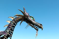 Dragon from How to Train Your Dragon Movie at Disneyland Stock Images