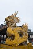 Dragon in Hue Citadel. Ornament in Hue Citadel, Vietnam Stock Photos