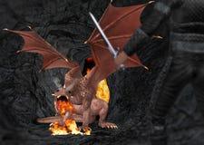Dragon Slayer Illustration Royalty Free Stock Image