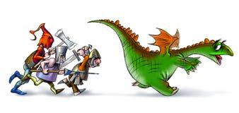 Dragon_hunters royalty-vrije illustratie
