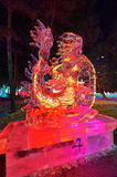The dragon ice-lantern festival Stock Photography