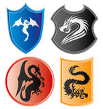 Dragon icons. Stock Photo