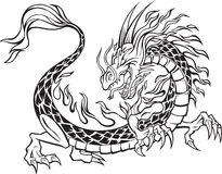 Dragon Illustration. On white background Stock Photo